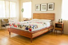 Storage Bed With Night Stands by PeteDeebleFurniture on Etsy, $4,000.00