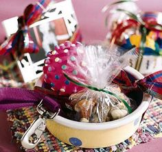 This pet-friendly gift bowl makes for a thoughtful and creative present.