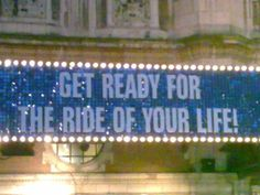 Are you ready for the ride of your life?  (Priscilla Queen of the Desert, London)