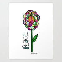 """peace flower"" Cherry Runway   Society6"