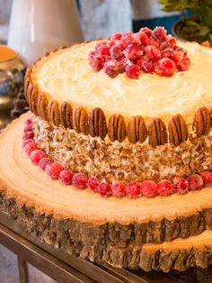 This buttermilk spice cake has an orange-scented cranberry filling and maple frosting. Yum! (http://www.hgtv.com/holidays-and-entertaining/cranberry-maple-christmas-layer-cake-recipe/index.html?soc=pinterest-blogparty)