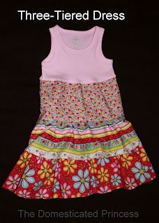 The Domesticated Princess: Triple Tiered Little Girl Dress