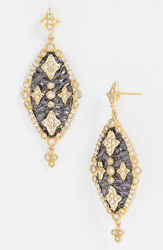 Dazzling drop earrings.