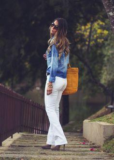Calça Jeans Branca + camisa jeans