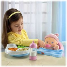 Servin Surprises High Chair Set - Fisher-Price Online Toy Store
