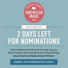 Nominations end Friday! Submit your 2014 American Made Awards nomination today!