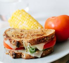 Tomato Avocado Grilled Cheese