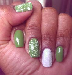 New York Color High Line Green, Sally Hansen Sugar Fix, and Spellbound Nails Pishsalver