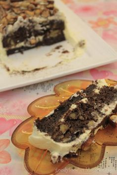 Recipe: Chocolate and Hazelnut Brownie Cake (Delia Smith)