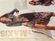 Must have cowboy boots and jean jacket for a maxi in the fall - look from  Boston Proper