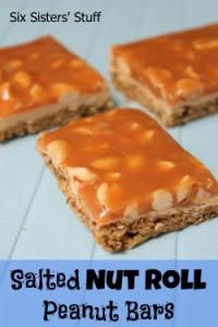 Six Sisters Salted Nut Roll Peanut Bars are for the pay day or salted nut roll lovers!! These are so easy to make!