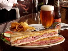 Cuban Sandwich at The Columbia in Clearwater Beach, Florida. I am getting one of these on Monday and I don't care how fattening it is ;)