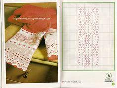 Arte by Cachopa - Bordado I: Diversas toalhas de banha com bordado em vagonite