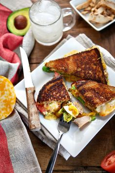 Chicken, Avocado & Tomato Grilled Cheese