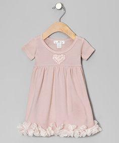 Blush Bow Petal Dress heart petal, girl, cloth, blush heart, day dresses, blushes, babi, petal dress, kid
