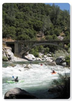 Kayakers on the South Yuba