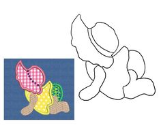 Baby Sue quilt, sunbonnet sue baby
