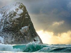 How I got the shot: Dane Gudauskas surfs Norway's frozen waters   GrindTV.com
