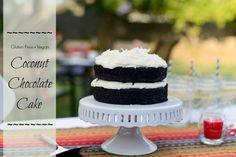Gluten Free - Vegan Coconut Chocolate Cake
