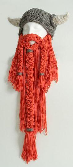 Viking hat and beard crochet pattern