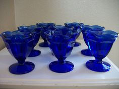 blue cobalt dessert dish