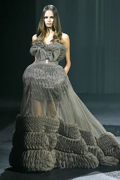 givenchy haute couture -ruffles