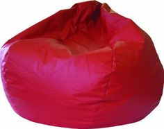 Fashion Large Leather Look Vinyl Bean Bag Chair  The XXL Bean Bag is Sturdy, Double Stitched, and has a Child Safe Zipper. A Scarlet Leather Look Vinyl. 140 Circumference (L41 x W41 x H24). Comfortably Fits all Ages. This Durable Bean