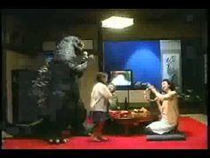 Hitachi VHS Karaoke ADVERT Japan (Featuring Godzilla) I love this advert!! It features the heisei 90s suit.