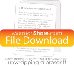 "2013 Personal Progress experiences that correlate with ""Come Follow Me"" Lessons 