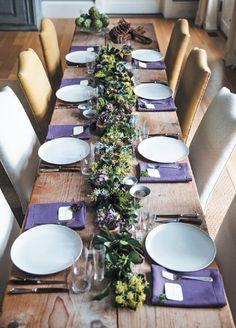 purple + white for Christmas