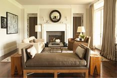 cream brown living room