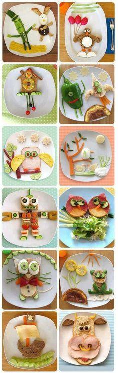 Super fun! @Connie Hamon Hamon Hamon Hamon E Jennings Kid #foodart www.OrganicLearningAdventure.com