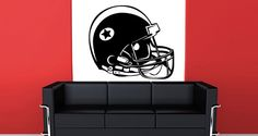 Step up your game with our football helmet wall decal! This removable vinyl wall decal is perfect for the sports lover - simply stick it to your wall and change the look of your room in minutes. Starts at $30.