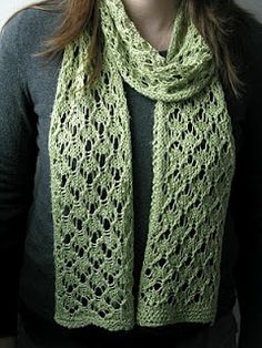 Knit scarf pattern.