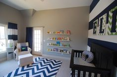 Baby room. Chevron, stripes, and polka dots oh my!