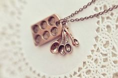 the little baker necklace, antiqued copper