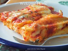 Welcome Home: Four Cheese Manicotti
