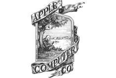 The old Apple logo (1967), with Isaac Newton sitting under the apple tree. http://thenextweb.com/dd/2014/04/28/7-tech-logos-became-iconic/