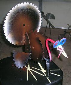yard art welded turkey
