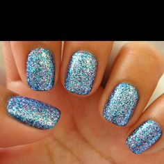 I love sparkly nail polish!