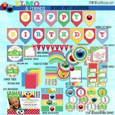 Sesame Street Decorations- Printable Sesame Street Party Birthday Party Decorations- Elmo Party Decorations PDF/JPEG. $26.99, via Etsy.