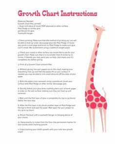 Pink Giraffe Growth Chart