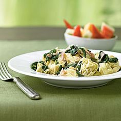 Superfast Italian Recipes | Pasta with Prosciutto and Spinach | CookingLight.com