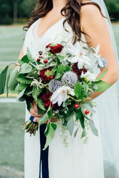 Summer or fall bouquet: http://www.stylemepretty.com/little-black-book-blog/2014/09/22/beautiful-backyard-cleveland-wedding/ | Photography: Aster & Olive - http://www.asterandolivephoto.com/