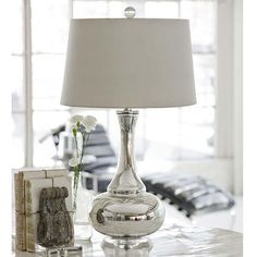 classic mercury glass table lamp