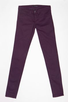 eggplant colored skinny jeans... such a great color