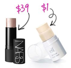 Splurge vs Steal: ELF Makeup Dupes You Can't Resist -- and they don't even cover my fav products. Love this line!