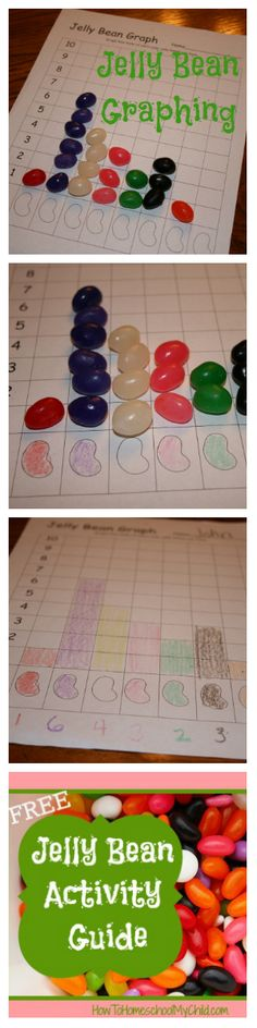graphing on national jelly bean day - free activity guide from How to Homeschool My Child.com