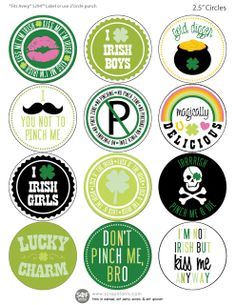 Fontaholic: FREEBIE FRIDAY: St. Patrick's Day Stickers