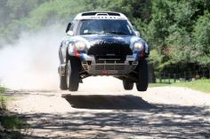 MINI ALL4 Racing off to a flying start at the Dakar Rally.